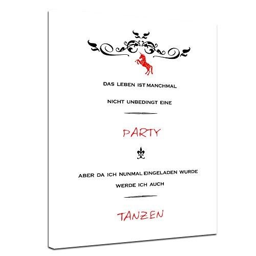 Bilderdepot24 Leinwandbild mit Spruch – Party –