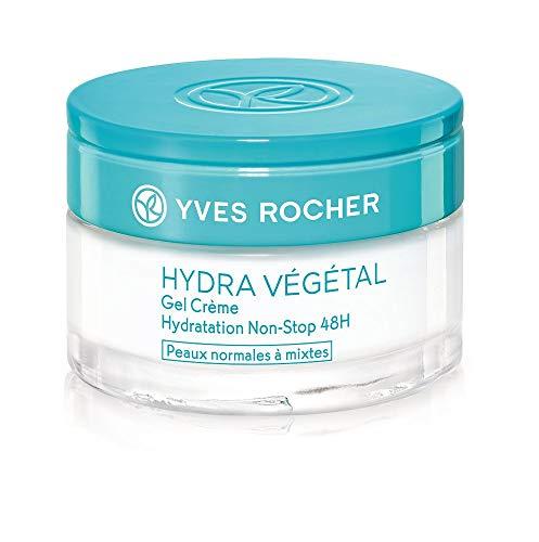Yves Rocher HYDRA VÉGÉTAL - Crema gel anti-stop, idratante 48 ore, crema idratante per giorno e notte, 1 barattolo in vetro da 50 ml