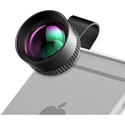 Profesional Lente de Cámara HD, HAVIT HV-MPC04 Kit de lente de teléfono, 60 mm 2 x HD Teleobjetivos, Samsung Galaxy S3 Mini i8190 Fibra Óptica para iPhone/Android Teléfono/iPad/Tablet