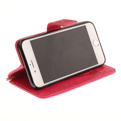 PU Prägen Panda Silikon Schutzhülle Handyhülle Painted pc case cover hülle Handy-Fall-Haut Shell Abdeckungen für Smartphone Apple iPhone 7 (4.7 Zoll) +Staubstecker (1CW) 5