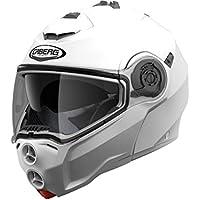 Caberg Droid Flip Up Front Modular DVS Motorcycle Helmet Lid - Metal White M