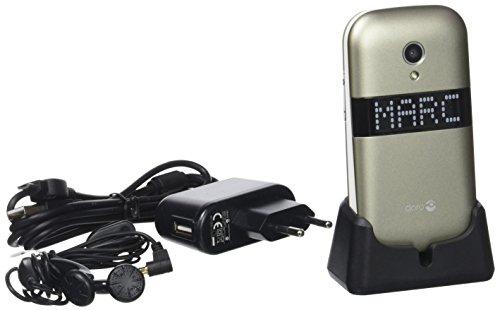 Doro PhoneEasy 6050 2.8' 111g Marrón Teléfono para Personas Mayores -...