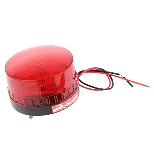 SM SunniMix LED Rundumleuchte Mehrzweck Rotem Blinkleuchte 12V, Signalleuchte Straßenverkehr Zulassung, KFZ Warnleuchte