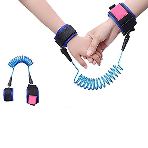 Baby Child Anti-Lost Safety Harness Velcro Wrist Link Traction Rope