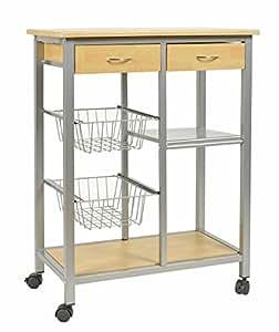 Chariot de cuisine roulettes table d 39 appoint pour Amazonpetit meuble cuisine