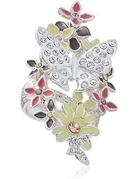 Pilgrim Jewelry Damen-Ring Messing aus der Serie Schmetterling romance versilbert,pastell 5 cm Gr. 53 (16.9) 221326914