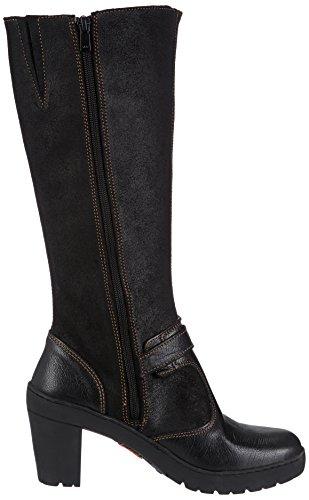 396 black Art Damen Stiefel Schwarz XwYqn