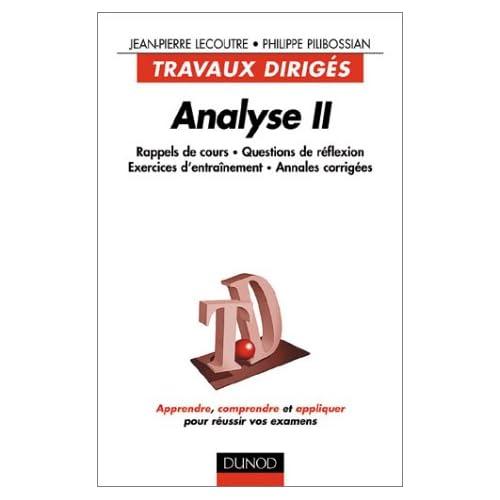 Analyse II : Travaux dirigés