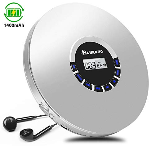 NAVISKAUTO Tragbarer CD Player E...