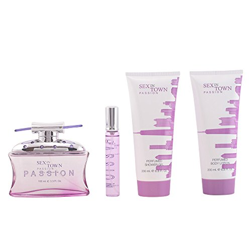 Concept V Design, Sex in Town Passion, Set regalo da donna, incl. Eau de Parfum, 100 ml + Crema corpo, 200 ml + Gel doccia, 200 ml + Eau de Parfum, 20 ml
