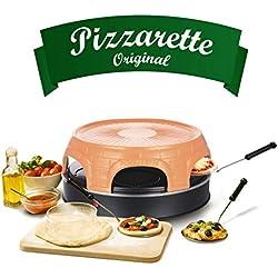 Emerio po 115848sauve original à pizza four à pizza pour 6personnes avec ciseaux. Bonnet de Badminton, Terracotta, Noir
