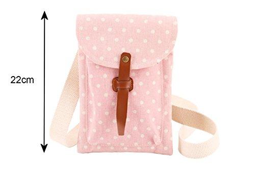 Polka dot tela come borsa a tracolla Materiale - Colore d. Borsa a tracolla B