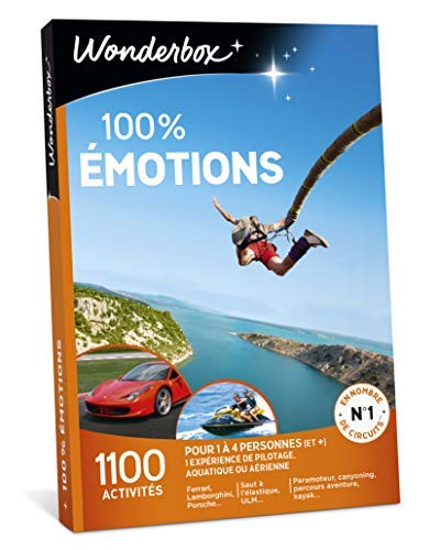 Wonderbox – Coffret cadeau sensation – 100% EMOTIONS –...