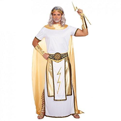 Antikes Kostüm Zeus, Gr. M, Fasching Griechenland olympischer Gott (Griechischer Zeus Gott Kostüm)