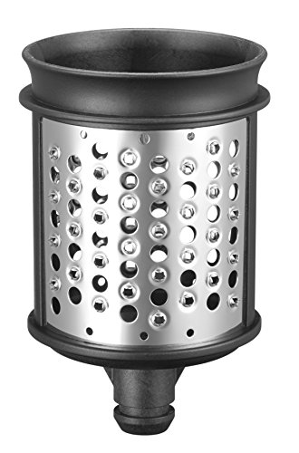 KitchenAid 5KSMEMVSC Set de Cylindres à Râper pour Tranchoir/Préparations Fraîches Argent,
