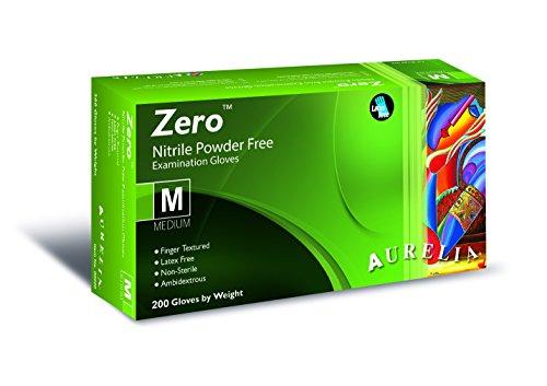 SUPERMAX 92775Aurelia Zero Nitril Handschuhe, Beschleunigung und puderfrei, Gr. XS, Blau (200Stück) (Accelerator-free Nitril-handschuhe)
