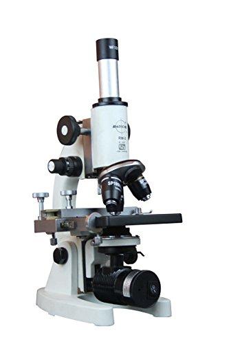 Radical 2500X Medical School Vet Lab Microscope W Led Battery Backup Lamp 3D Stage Slide Kit