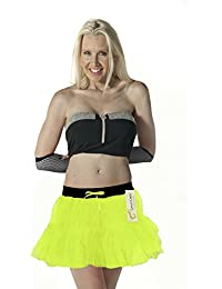 Crazy Chick 2 Layer Women Tutu Skirts Hen Night Party Fancy Dress