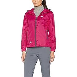 Trespass Qikpac Jacket, Sasparilla, XXL, Compact Packaway Waterproof Jacket Adult Unisex, XX-Large / 2X-Large / 2XL, Pink
