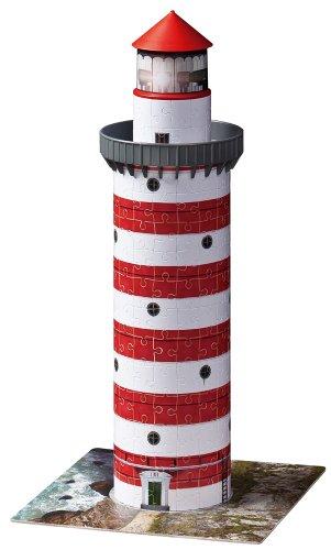 Preisvergleich Produktbild Ravensburger 12555 - Leuchtturm - 216 Teile 3D Puzzle-Bauwerke