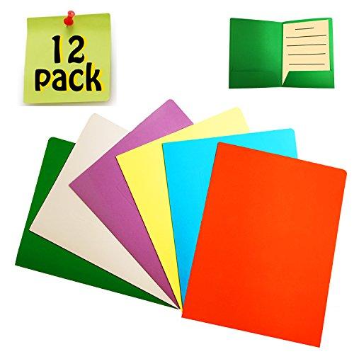 Schnellhefter Pappe A4 - 12 Stück Dokumententasche Mappen Pappe Heftmappe Papphefter din A4 mit Kartenschlitz