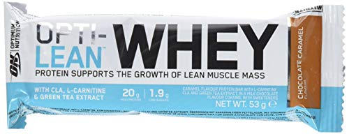 OPTIMUM NUTRITION Lean Whey Bar Chocolat Caramel 12 barres Protéinées de 53g