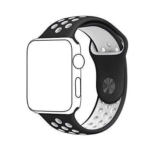 Para Apple Watch Banda Serie 1 Serie 2, suave silicona deporte pulsera correa de repuesto para iWatch banda M/L tamaño