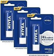 Nivea Essential Care Lip Balm, 4g (Pack of 3)
