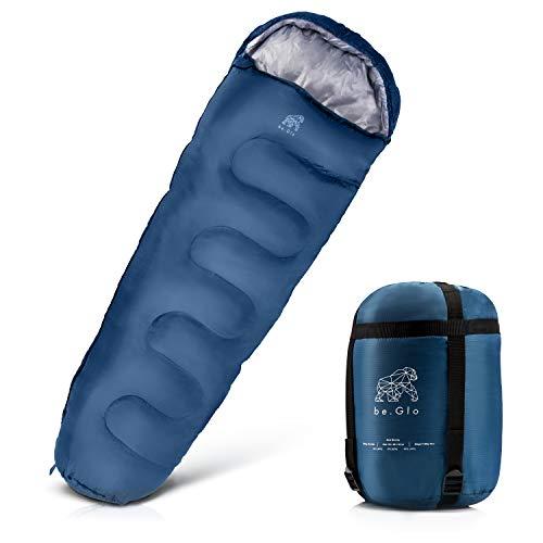 be.Glo Mumienschlafsack - Schlafsack aus wasserabweisendem Material mit maximaler Wärmeleistung - Reiseschlafsack