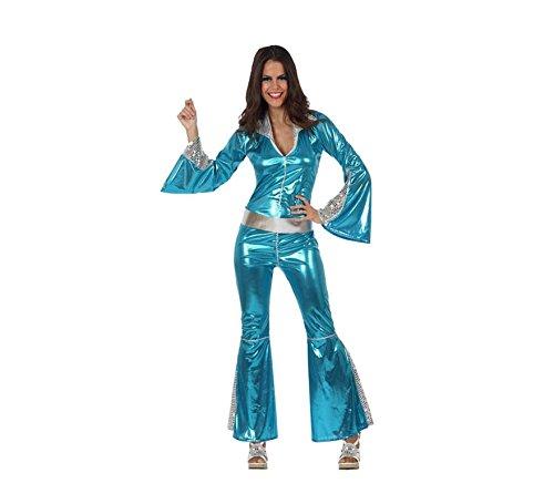 Disco-Kostüm für Damen - XL (70er Disco Jumpsuit Kostüm)