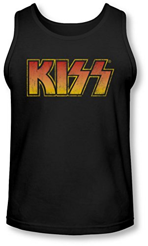 Kiss - Herren Klassische Tank-Top, XX-Large, Black