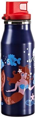 alfi 5367136060 Trinkflasche elementBottle Happy, Trinkverschluss 0.6 l, sea blau