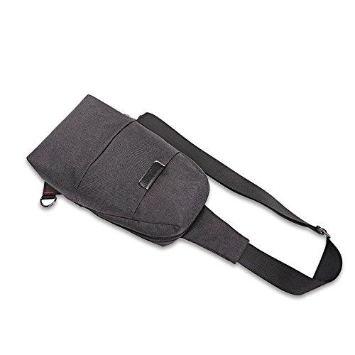 FANDARE Mode Sling Bag Rucksack Umhängetasche Brusttasche Messenger Bag Hiking Bag Daypack Crossbody Bag Schultertasche Chest Pack Sports Reisetasche Polyester Rot Schwarz