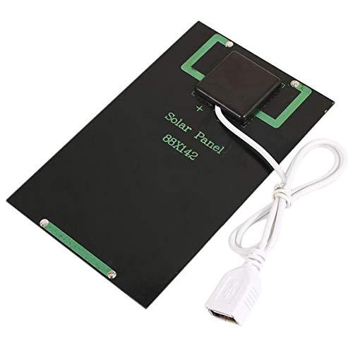 Jullyelegant 5 Watt 5 V Solar Panel Ladegerät DIY Solarmodul mit USB Port Tragbare Outdoor Solar Ladeplatine für Handys