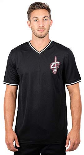 NBA Herren Trikot Shirt V-Ausschnitt Air Mesh Short Sleeve Tee Shirt, Team Logo schwarz, Herren, GTM2522F, schwarz, Medium -