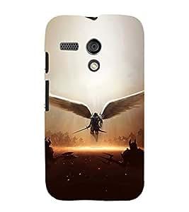 Ebby Printed back cover for Moto G(Premium Designer case)