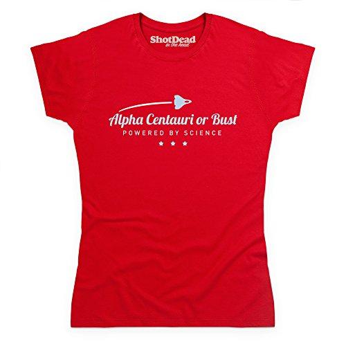 Alpha Centauri Or Bust Space Travel Science T-Shirt, Damen Rot