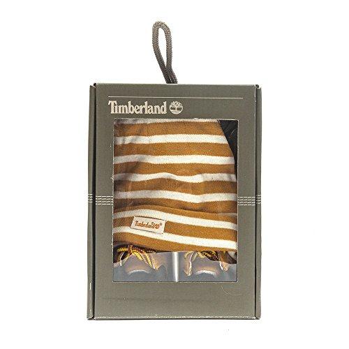 Timberland Crib Bootie W/Hat, Chaussons mixte bébé Camel