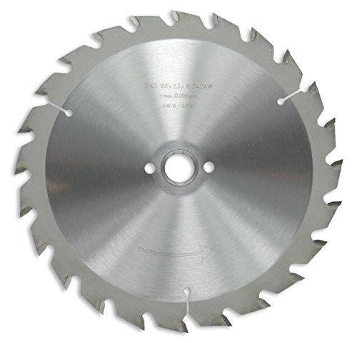 HM / HW Sägeblatt mit Nebenlöchern und Wechselzahn 180 x 16 mm mit 24 Zähnen Made in Germany (GE16a)
