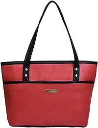 Fristo Women Handbag(FRB-136)Orange And Black