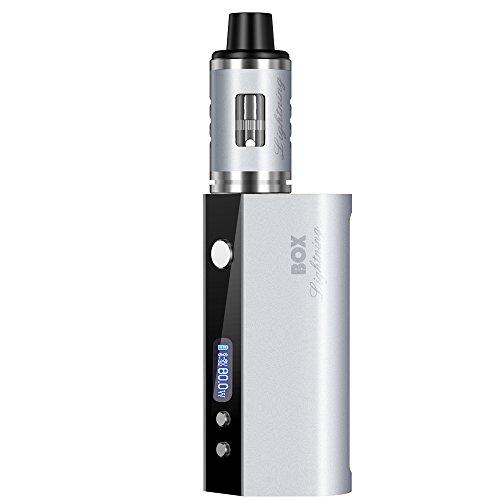 SZYSD Sigarette Elettroniche 80W 2600mAh Batteria + Arctic Atomizzatore Sub Ohm Tank 0,3 Ohm OCC Vaporizzatore, OLED Box Mod con VV / funzione di VW, No Liquido No Nicotina (argento)