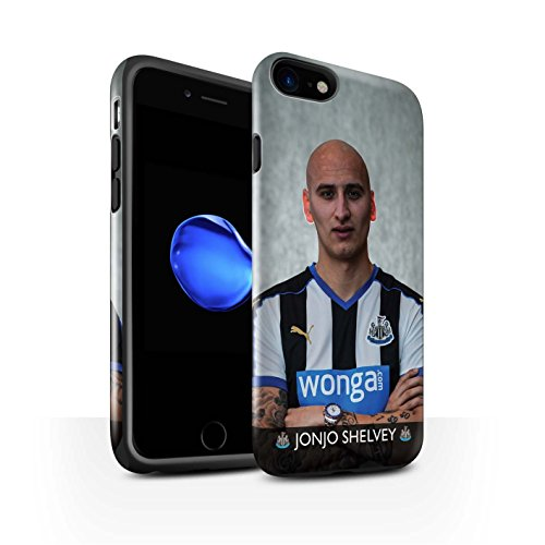 Offiziell Newcastle United FC Hülle / Glanz Harten Stoßfest Case für Apple iPhone 7 / Shelvey Muster / NUFC Fussballspieler 15/16 Kollektion Shelvey