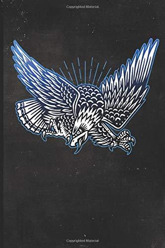 Journal: Patriotic American Bald Eagle Tattoo Design Dot Grid Tattoo Flash Sketching Journal (Sailor Jerry Flash)