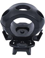"Tactical Airsoft casco luz 1,2""Diámetro racionalizar la abrazadera del soporte-apto para rápido MICH casco IBH, Negro"