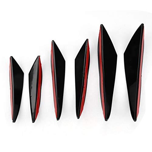 Outbit Windabweiser - 6Pcs Kohlefaser Auto Frontstoßstange Windmesser Zierleisten Front Bar Universal