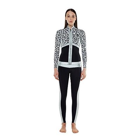 GlideSoul Collection Veste Femme, Black/ Leopard/ Silver, XXS
