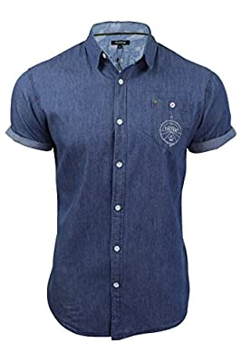 Mens Denim Shirt by Firetrap 'Barley' Short Sleeve