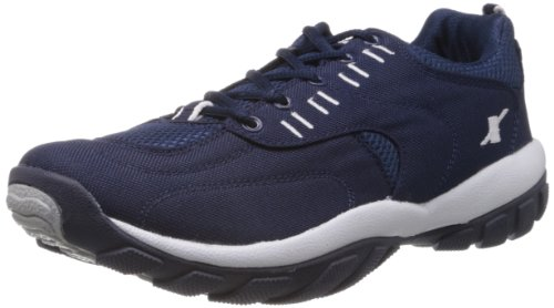 3. Sparx Men's Navy Blue and White Running Shoes