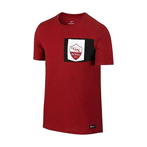 Nike M Nk Tee Crest Camiseta de Manga Corta As Roma, Hombre, Rojo (Team Red / Ivory), XL