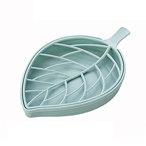 uswine Haltbarer praktischer Abnehmbarer Seifenkastenbehälter mit doppeltem Ablaufblatt Rasierseifenschalen